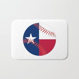 Texas Flag Baseball Bath Mat