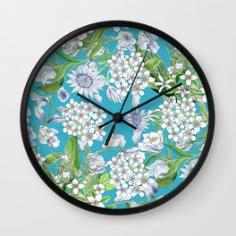 Royal Wedding Flowers, Meghan Markle's Bouquet Wall Clock