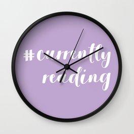 #currentlyreading (Purple) Wall Clock