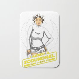 I Kissed a Scoundrel T-Shirt Bath Mat