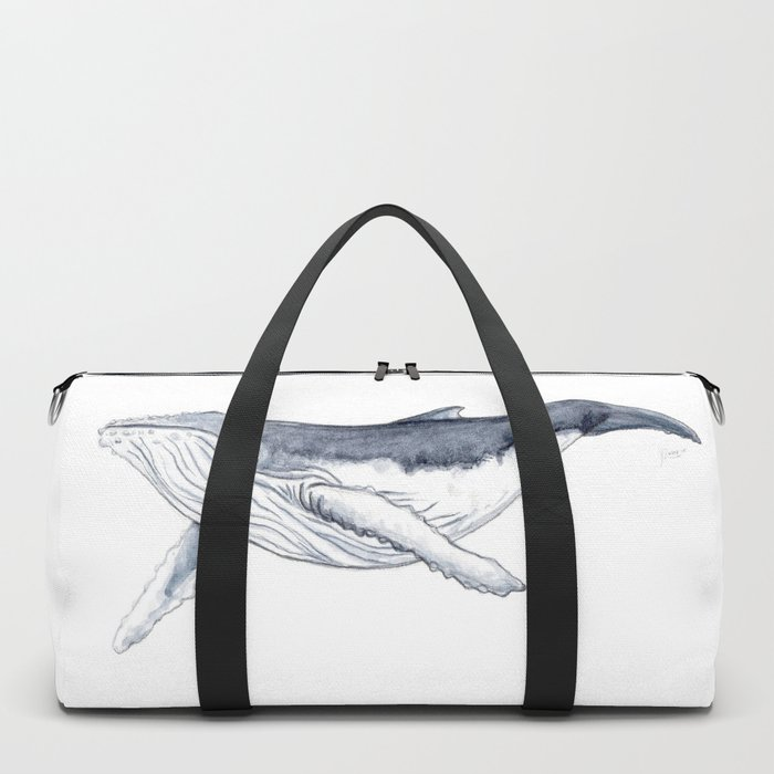 Baby humpback whale (Megaptera novaeangliae) Duffle Bag
