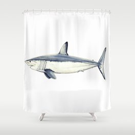 Mako shark (Isurus oxyrinchus) Shower Curtain