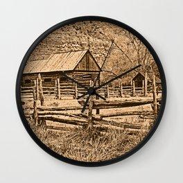 Old Ranch Wall Clock