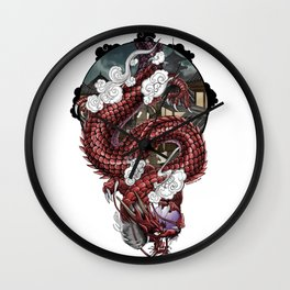 Japanese Dragon 竜 Wall Clock