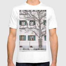 Pastel house White Mens Fitted Tee SMALL