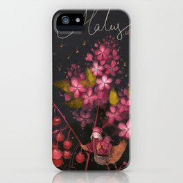 "Botanical illustration ""Malus ola"" iPhone Case"