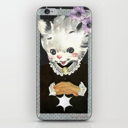 Collar and Cuffs handcut collage iPhone Skin