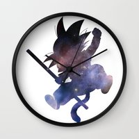 goku Wall Clocks featuring SPACE GOKU by DrakenStuff+