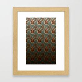 leafy pattern Framed Art Print