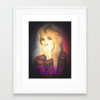 stevie nicks Framed Art Prints featuring Stevie Nicks- Intense Silence by Anne Merritt