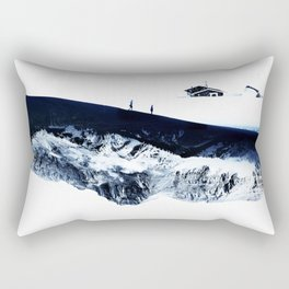 Hiking for Winter Rectangular Pillow