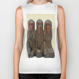 Three Wise Monkeys Biker Tank