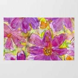 Watercolor Wildflowers Rug