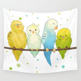 The Budgie Bunch Wall Tapestry