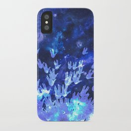 H.E.L.L.O. / blue iPhone Case