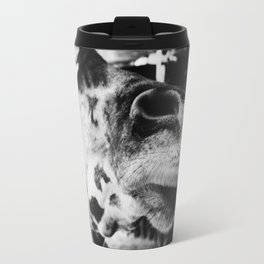 Black And White Giraffe Nose Travel Mug