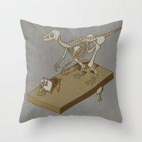 renaissance Throw Pillows featuring Jurasic renaissance. by JCMaziu