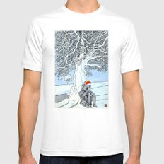 The Knight's Rest MEDIUM Mens Fitted Tee White