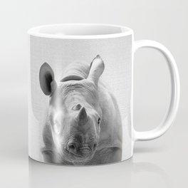 Baby Rhino - Black & White Coffee Mug