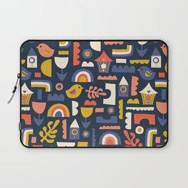 Kids Birds And Rainbows Scandinavian Design Laptop Sleeve