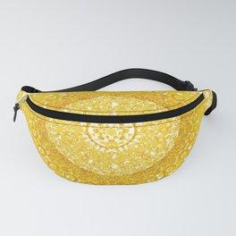 Golden Yellow Tapestry Mandala Fanny Pack