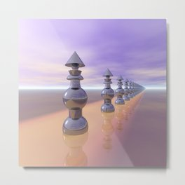 Conical Geometric Progression Metal Print