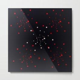 points rouges blancs  Metal Print