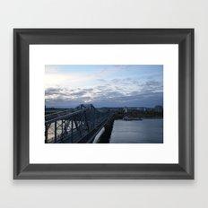 bridge to quebec Framed Art Print