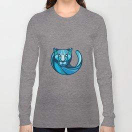Cheetah Head Low Polygon Style Long Sleeve T-shirt