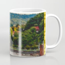 Framed painted landscape ... Coffee Mug