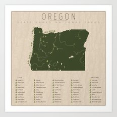 Oregon Parks Art Print