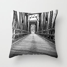 Old Train Bridge Bath, NH Throw Pillow