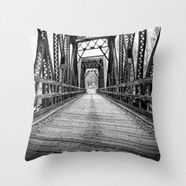 Old Train Bridge Bath, NH Throw Pillow