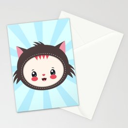 cat head Stationery Cards