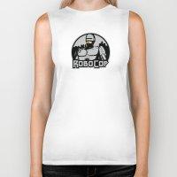 robocop Biker Tanks featuring Robocop by CarloJ1956