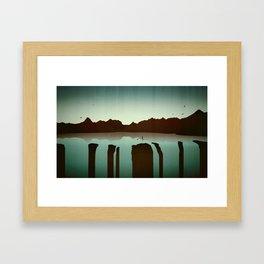 Chasing Boats Framed Art Print