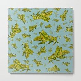Little Grasshopper Metal Print