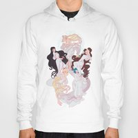 mucha Hoodies featuring Sailor Mucha by Dixie Leota