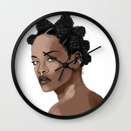 Bad Gal Bantu Knots Wall Clock