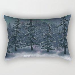 Wintry Forest Rectangular Pillow