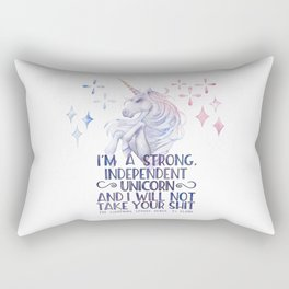 I am a strong independent unicorn - The lightning struck heart Rectangular Pillow