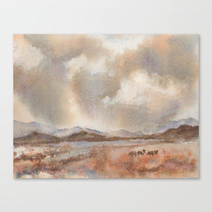 Graze On Canvas Print
