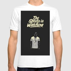 The Streets is Watching MEDIUM Mens Fitted Tee White
