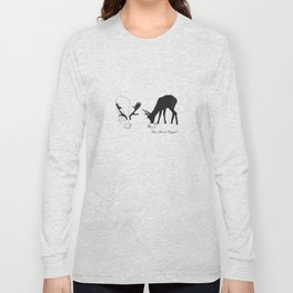 Deer love a Cuppa! Deer products, woodland illustration, animal lovers, deer gifts, Long Sleeve T-shirt