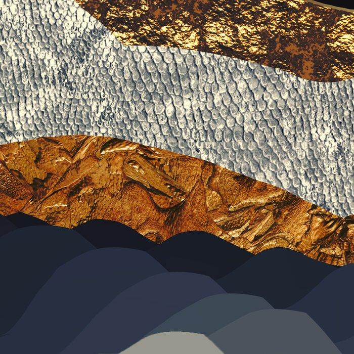 Metallic Mountains Leggings