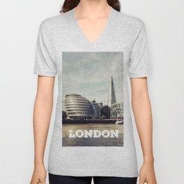 London city view Unisex V-Neck