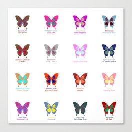 Butterflies 16 Canvas Print