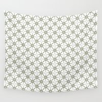 flower pattern Wall Tapestries featuring Flower pattern by Yasmina Baggili
