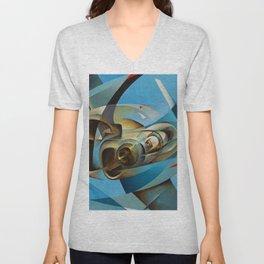 Monoplane in Flight by T. Crali Unisex V-Neck