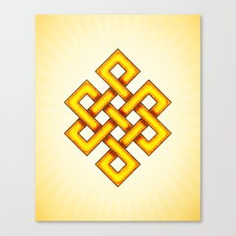 Endless Knot Yellow Canvas Print